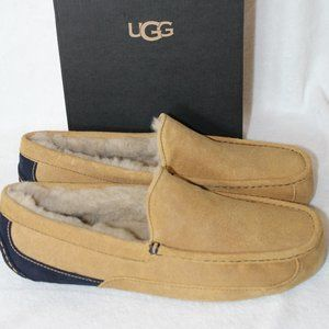 NEW UGG ASCOT Suede Shearling Slippers